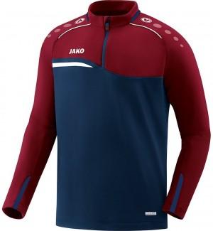 Jako Sweatshirt Ziptop Competition 2.0 marine/dunkelrot 8618