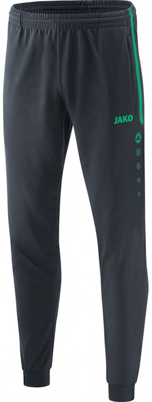 Jako Kinder Polyesterhose Trainingshose Competition 2.0 anthrazit/türkis 9218