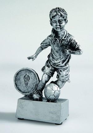 Fußball Trophäe Fußballmädchen Figur 12 cm incl. beschrifteter Aufkleber