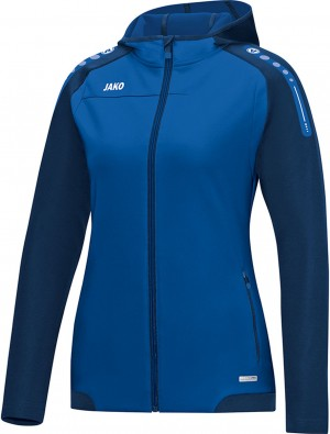 Jako Damen Jacke Trainingsjacke Kapuzenjacke Champ royal blau 6817