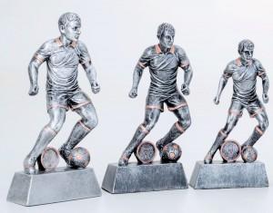 Pokale 3er Serie Fußballspieler Trophäe Resin 22,3 cm - 26,5 cm