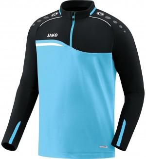 Jako Kinder Sweatshirt Ziptop Competition 2.0 aqua/schwarz 8618