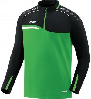 Jako Sweatshirt Ziptop Competition 2.0 soft green/schwarz 8618 Gr.XL