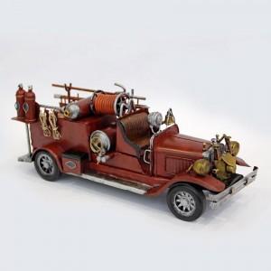 Modellauto Feuerwehrauto Löschwagen Historisches Feuerwehrfahrzeug