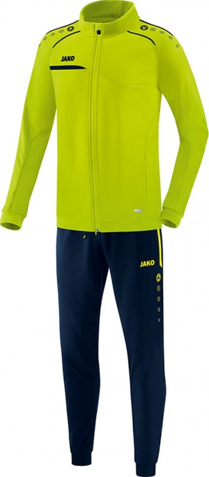 Jako Herren Jogginganzug Trainingsanzug Prestige lemon/marine M9158