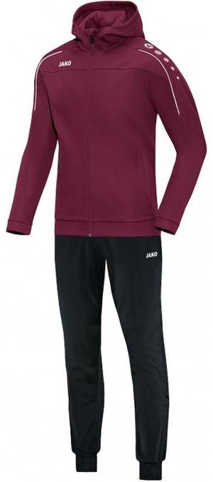 Jako Kapuzen Trainingsanzug Classico maroon Jogginganzug