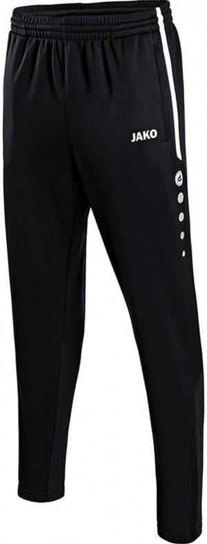 Jako Kinder Jogginghose Trainingshose Active schwarz/weiß ohne Bündchen 8495
