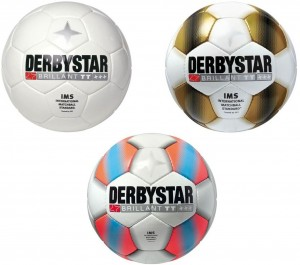 20x Derbystar Fußball Brillant TT orange, weiß oder gold Gr.5