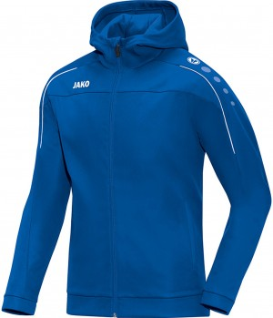 Jako Damen Trainingsjacke Kapuzenjacke Classico royal blau 6850