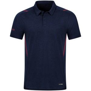 Jako Herren Poloshirt Polo Challenge marine meliert/maroon 6321